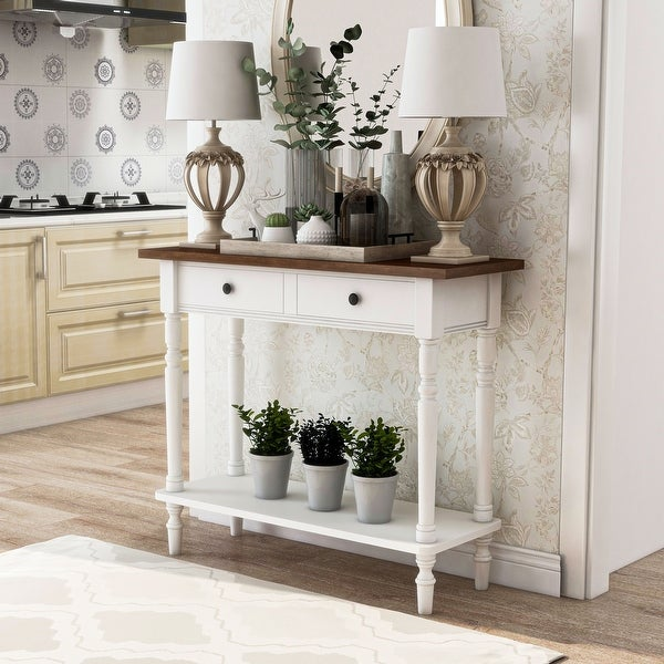 Furniture of America Jeln Traditional Wood Entryway Console Table. Opens flyout.
