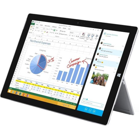 "Microsoft Surface Pro 3 128GB Intel Core i5-4300U X2 1.9GHz 12"", Silver (Certified Refurbished)"