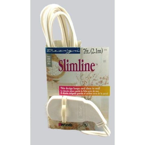 Slimline 2236AC Household Extension Cord, White, 16/2 x 7'