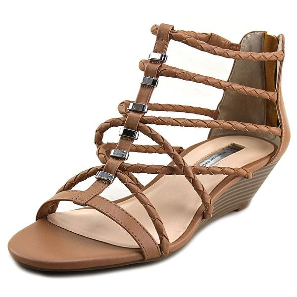 INC International Concepts Makera Open Toe Synthetic Wedge Sandal