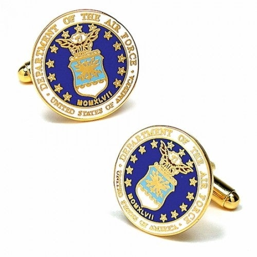 USAF Air Force Enamel Cufflinks Military