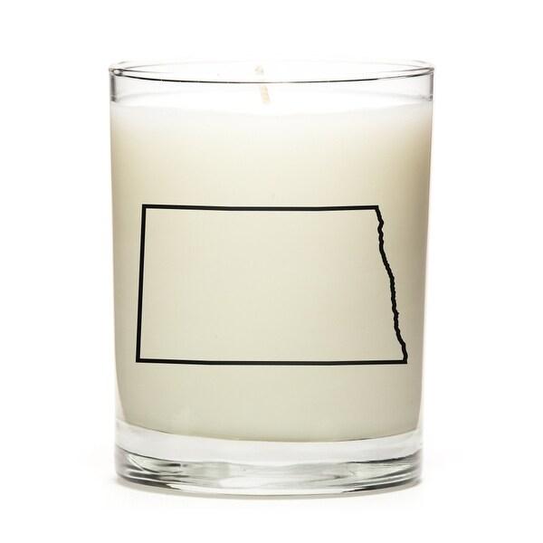 Custom Candles with the Map Outline North-Dakota, Apple Cinnamon