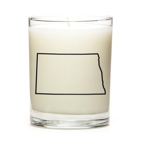 Custom Candles with the Map Outline North-Dakota, Eucalyptus