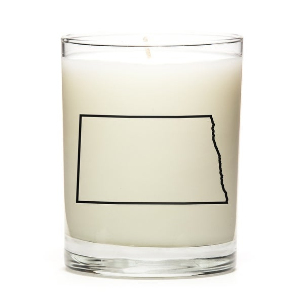 Custom Candles with the Map Outline North-Dakota, Pine Balsam