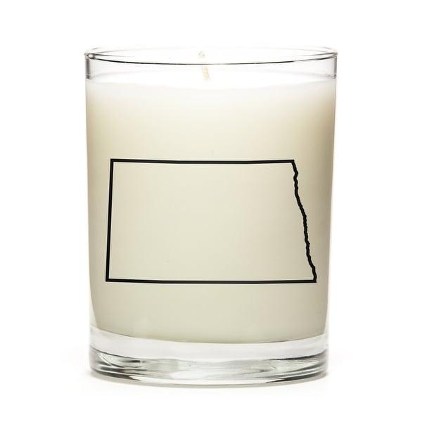Custom Gift - Map Outline of North-Dakota U.S State, Pine Balsam