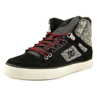 DC Shoes Spartan High WC WNT Men Round Toe Leather Black Skate Shoe