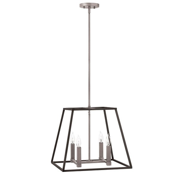 Hinkley Lighting 3334DZ 4 Light Pendant from the Fulton Collection - aged zinc