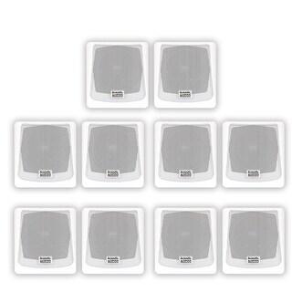 Acoustic Audio AA051W Mountable Indoor / Outdoor Speakers 5 Pair Pack AA051W-5PR