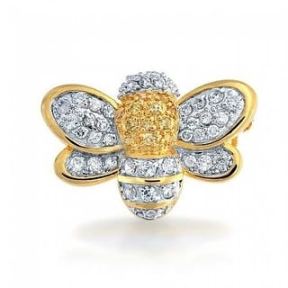 Bling Jewelry Gold Plated Cubic Zirconia Bumble Bee Brooch Pin|https://ak1.ostkcdn.com/images/products/is/images/direct/3dcbfc8ed13e7f96333d1d2ee1922eb303980c0c/Bling-Jewelry-Gold-Plated-Cubic-Zirconia-Bumble-Bee-Brooch-Pin.jpg?impolicy=medium