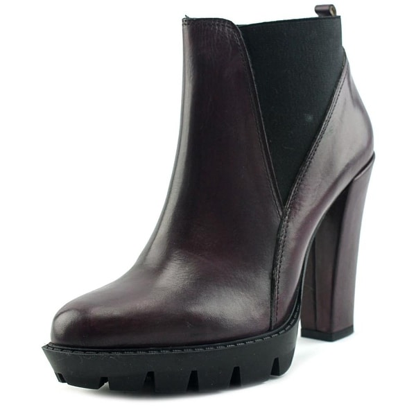 Charles David Diller Women Round Toe Leather Bootie
