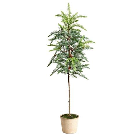 3.5' Winniepeg Artificial Pine Tree in Decorative Planter