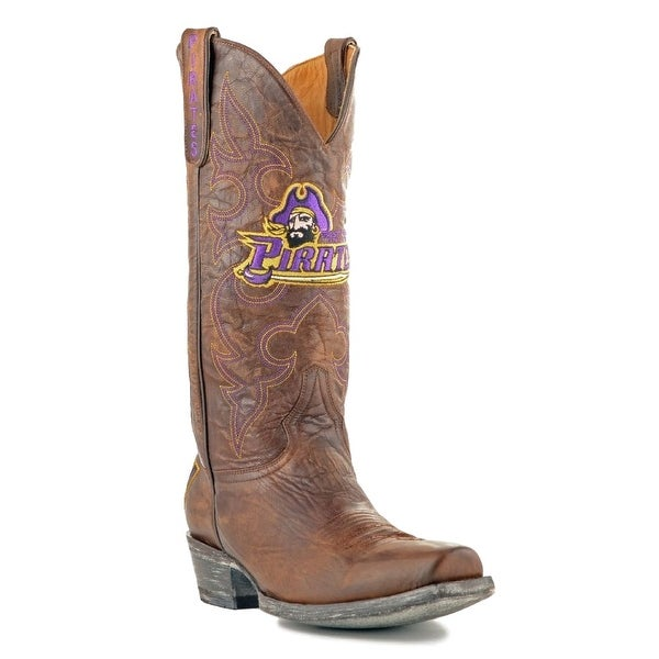 Gameday Boots Mens College Team East Carolina Pirates Brass