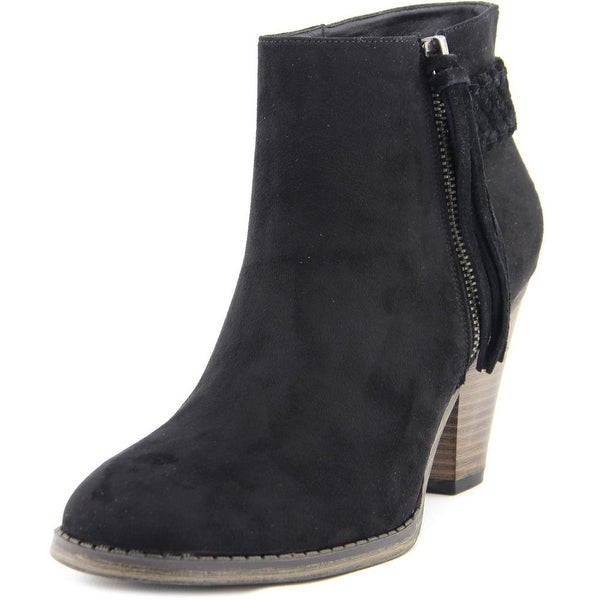Mia Finnegan Women Round Toe Synthetic Black Ankle Boot