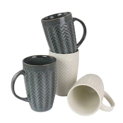Gibson Home 22 oz Stoneware Mug set of 4