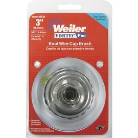 "Weiler 3"" Wire Cup Brush"