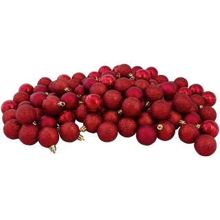 "Link to 96ct Red Shatterproof 4-Finish Christmas Ball Ornaments 1.5"" (35mm) Similar Items in Christmas Decorations"