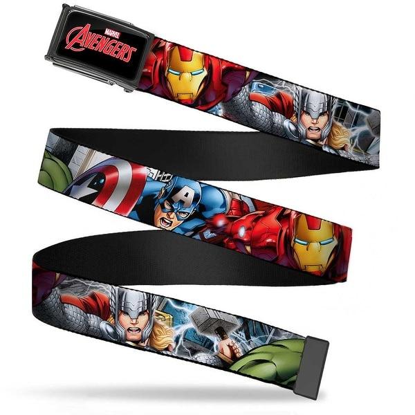 Marvel Avengers Marvel Avengers Logo Fcg Black Red White Chrome Marvel Web Belt