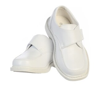 Toddler Boys White Velcro Matte Special Occasion Dress Shoes 5-10