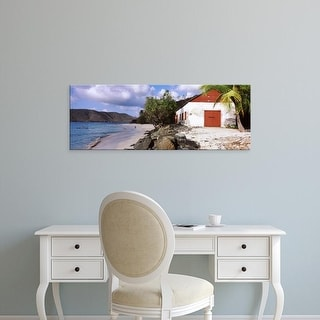 Easy Art Prints Panoramic Image 'Cinnamon Bay, Virgin Islands National Park, St. John, US Virgin Islands' Canvas Art