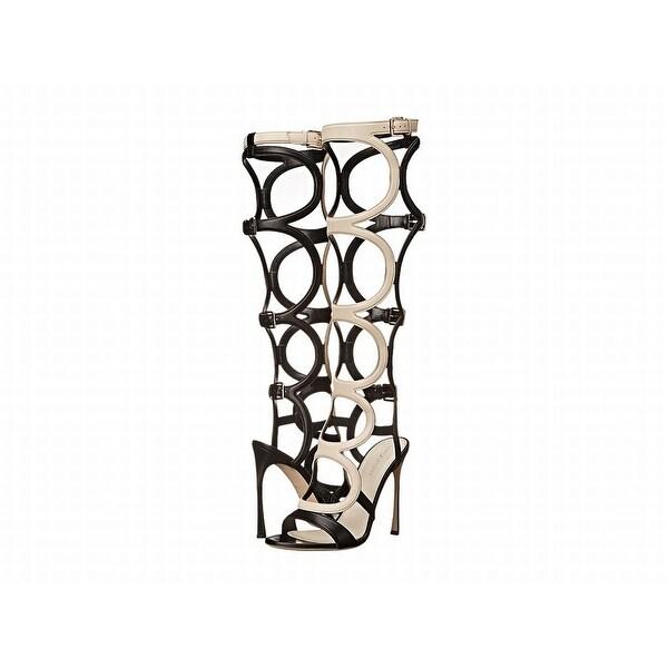 Sergio Rossi NEW Black Shoes 9M Stiletto Strappy Gladiator Heels