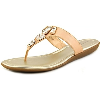 Bandolino Jesane Women Open Toe Synthetic Pink Thong Sandal