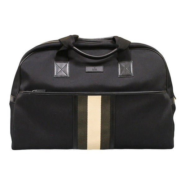 4ce8bd10f678b6 Gucci Men's Black Fabric Web Duffle Travel Bag 282511 1081 - One