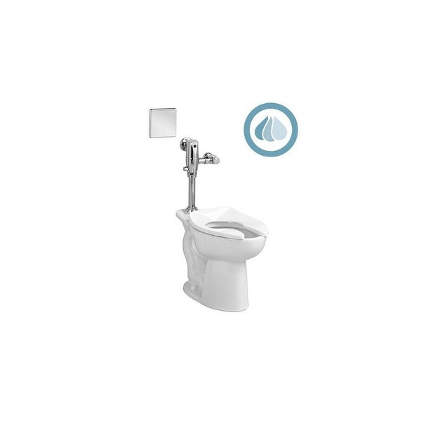 American Standard 3043.001 1.6GPF Everclean Vitreous China Toilet from the Madera Collection - White