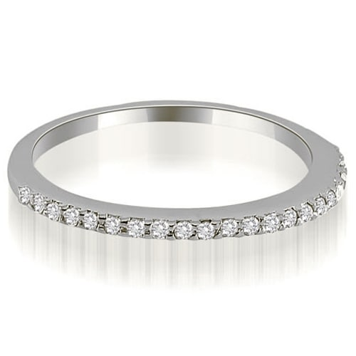 0.17 cttw. 14K White Gold Petite Round Cut Diamond Wedding Ring