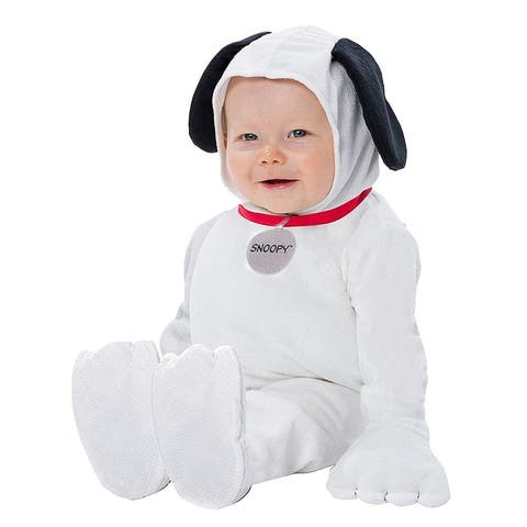 Peanuts Snoopy Infant Costume - White
