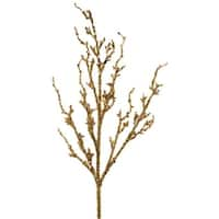 Club Pack of 12 Seasons of Elegance Sparking Gold Sequin Branches 41""