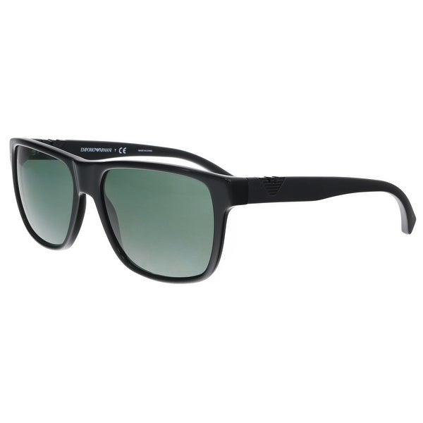 381a36ba6dd6 Shop Emporio Armani EA4035 501771 Black Rectangle Sunglasses - 58-17 ...