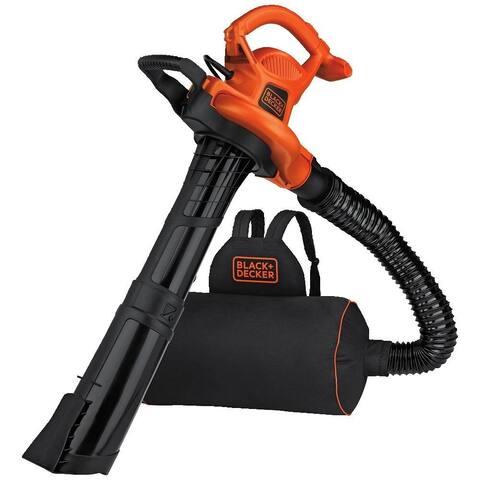 Black & Decker BEBL7000 VACPACK 3-In-1 Leaf Blower / Vacuum / Mulcher, 12 Amp