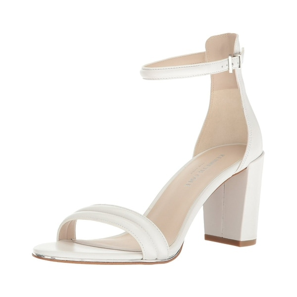 Kenneth Cole New York Womens Lex Block Heel Sandals White