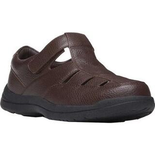 Propet Men's Bayport Fisherman Sandal Brown Leather