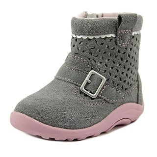 Stride Rite Kinsey Infant W Round Toe Leather Gray Bootie