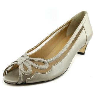 Vaneli Birdine Women N/S Peep-Toe Leather Gray Heels