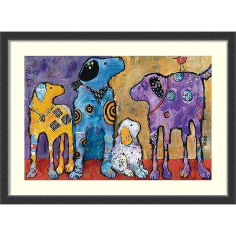 Framed Art Print Cast of Characters Dogs by Jenny Foster 45x33 inch