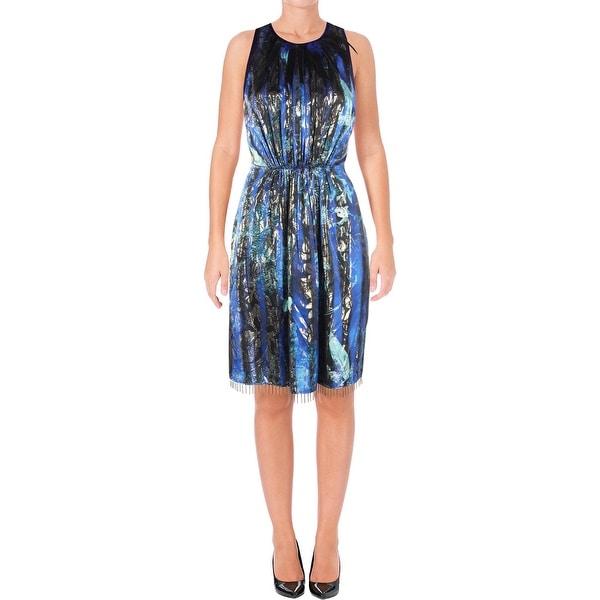 8c12c1d1164e Shop Elie Tahari Womens Demetria Party Dress Pleated Embellished - 4 ...