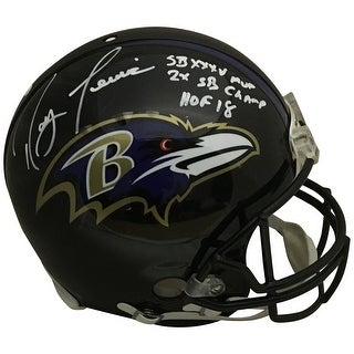 Ray Lewis Autographed Baltimore Ravens Full Size Authentic Proline Super Bowl MVP HOF Helmet Becket