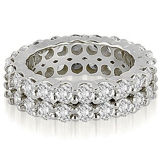 4.40 ct.tw 14K White Gold Round Diamond Two Row Eternity Ring