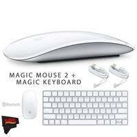 Apple Magic Mouse 2 MLA02LL/A + Apple Magic Keyboard MLA22LZ/A + MicroFiber Cloth Bundle