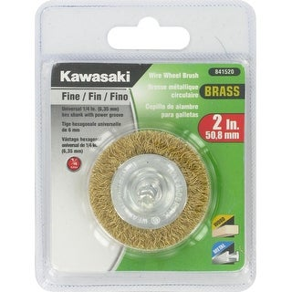 "Kawasaki� 2"" Fine Crimped Brass Wire Wheel Brush - 841520"