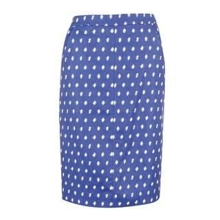Anne Klein Women's Jacquard Skirt (6, Atlantic Blue/Optic White)