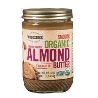 Woodstock Organic Raw Almond Butter - Case of 12 - 16 oz.