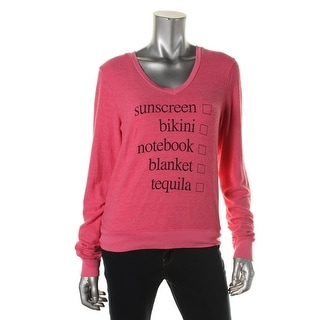 Wildfox Couture Womens Stretch Graphic Pullover Sweater - XS