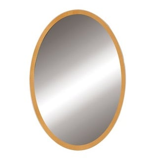 """DecoLav 9716 Lola 22"""" Oval Wall Mirror with Solid Wood Frame"""