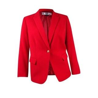 Tahari ASL Women's Plus Size Ponte Pocket Blazer