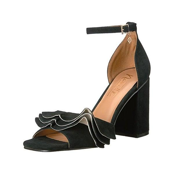 Nanette Lepore Womens Mariel Dress Heels Ruffled Open Toe