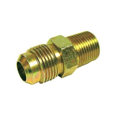 JMF 4505889 Flare Male Connector Lead Free, 3/4 x 1/2, Yellow Brass