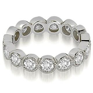 2.10 cttw. 14K White Gold Round Diamond Eternity Ring